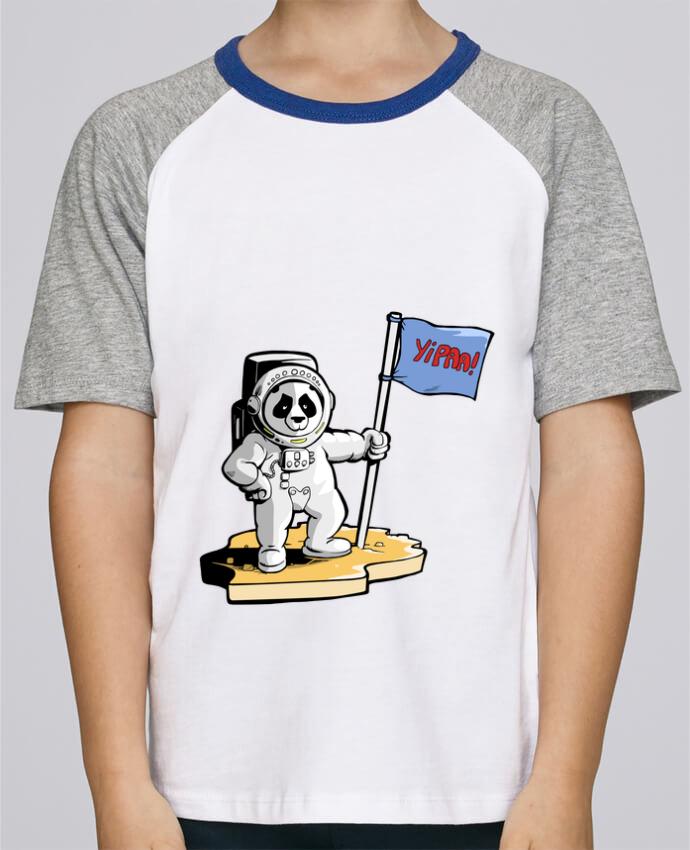 Camiseta de manga ranglan corta en contraste Stanley Mini Jump Short Sleeve Panda-cosmonaute por Tomi Ax - tomiax.fr