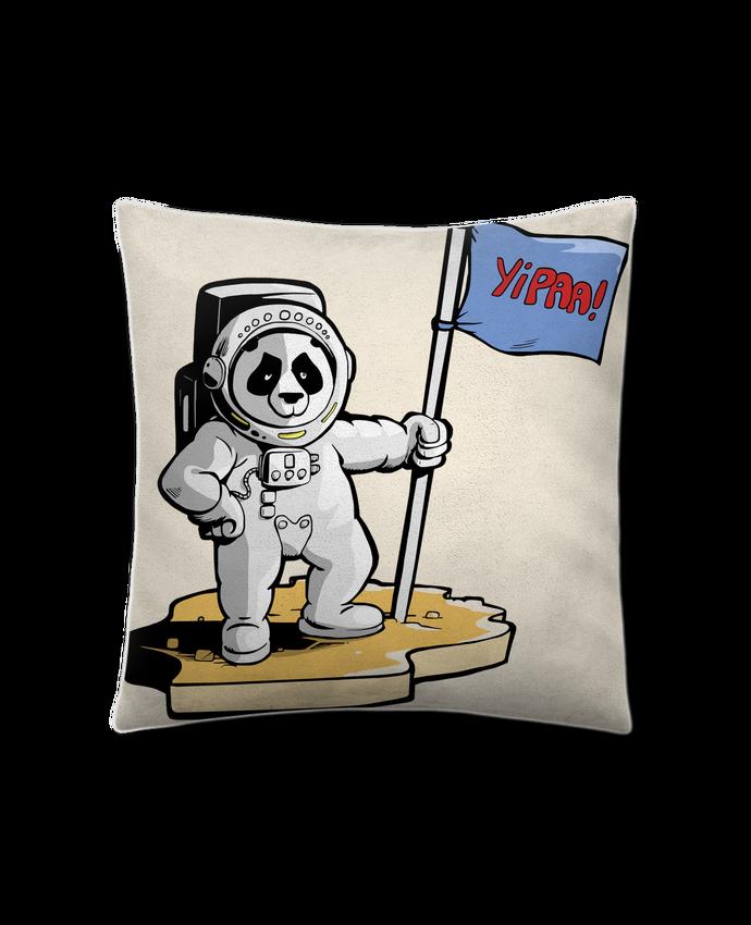 Cojín Piel de Melocotón 45 x 45 cm Panda-cosmonaute por Tomi Ax - tomiax.fr