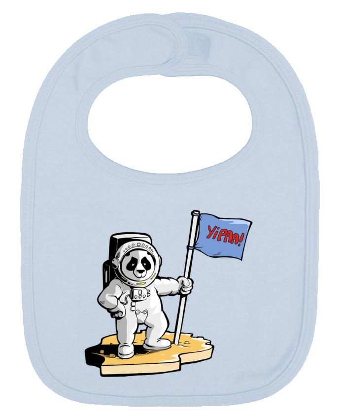 Babero Liso y Contrastado Panda-cosmonaute por Tomi Ax - tomiax.fr