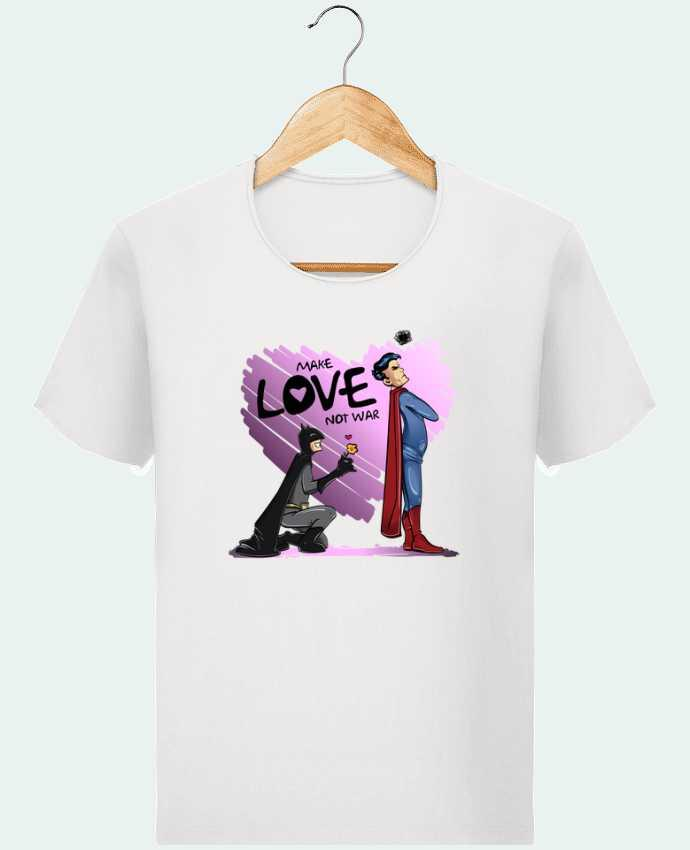 Camiseta Hombre Stanley Imagine Vintage MAKE LOVE NOT WAR (BATMAN VS SUPERMAN) por teeshirt-design.com