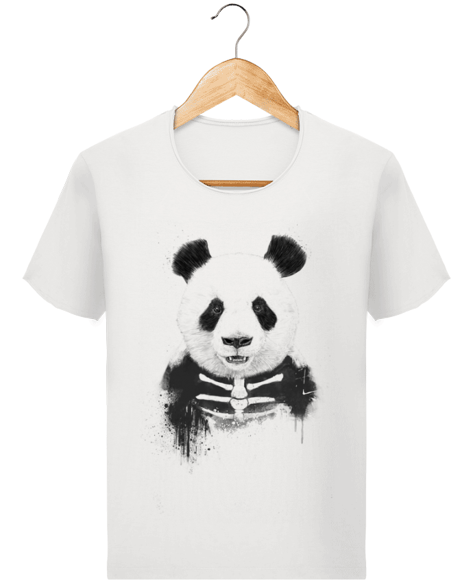 Camiseta Hombre Stanley Imagine Vintage Zombie Panda por Balàzs Solti