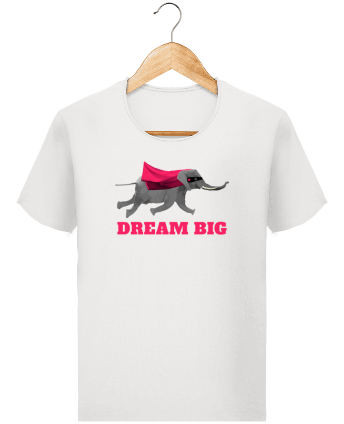 Camiseta Hombre Stanley Imagine Vintage Dream big éléphant por justsayin