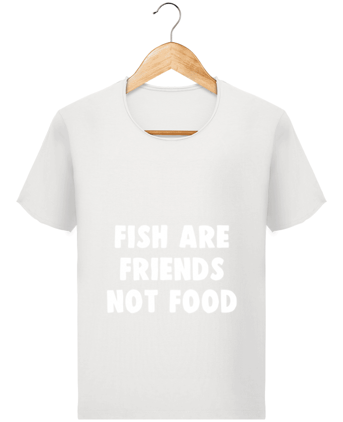 Camiseta Hombre Stanley Imagine Vintage Fish are firends not food por Bichette