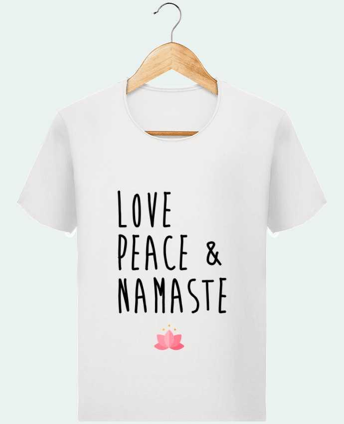 Camiseta Hombre Stanley Imagine Vintage Love, Peace & Namaste por tunetoo