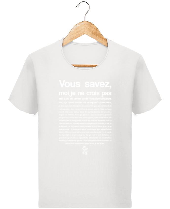 Camiseta Hombre Stanley Imagine Vintage Citation Scribe Astérix por tunetoo