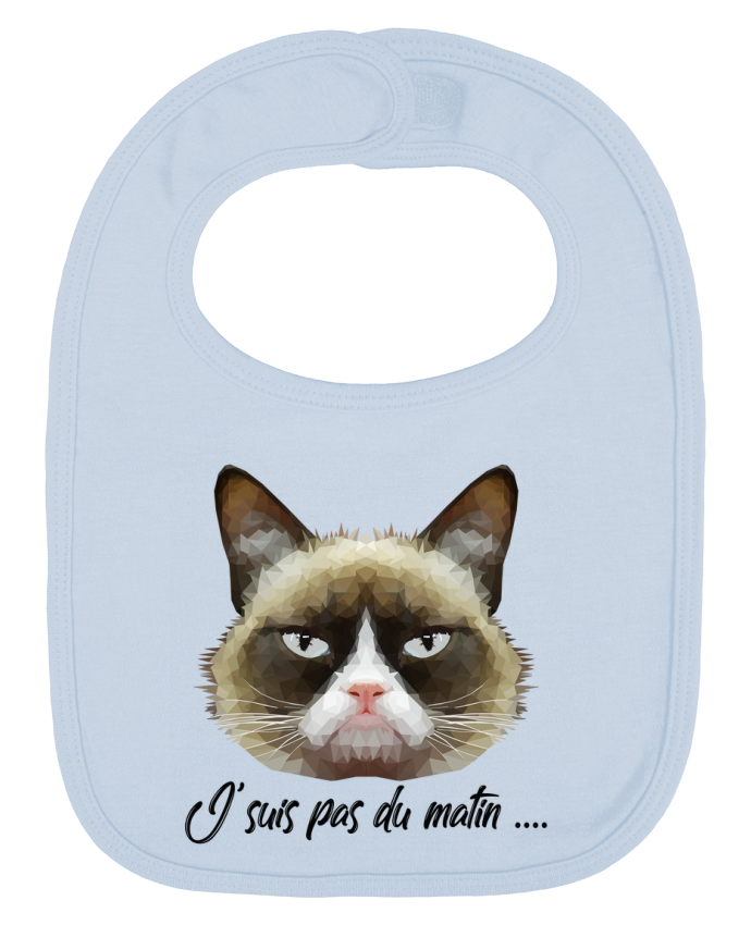 Babero Liso y Contrastado je suis pas du matin por DesignMe