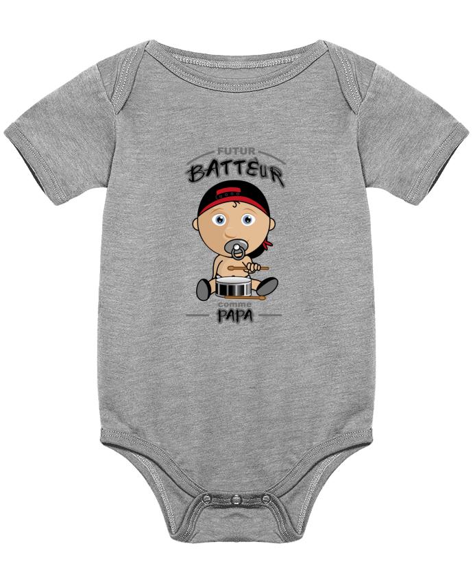 Body Bebé Futur batteur comme papa por GraphiCK-Kids