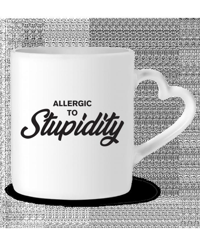 Taza Corazón Allergic to stupidity por tunetoo