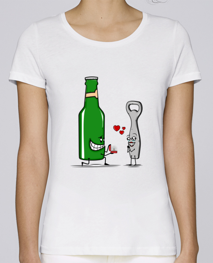 Camiseta Mujer Stellla Loves BEER ROMANCE por PTIT MYTHO