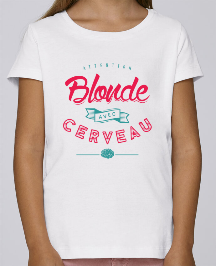 Camiseta Niña Stella Draws BLONDE AVEC CERVEAU por PTIT MYTHO