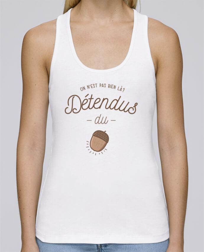 Camiseta de tirantes algodón orgánico mujer Stella Dreams DETENDUS DU GLAND por PTIT MYTHO en coton Bio