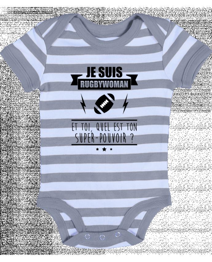 Body Bebé a Rayas Je suis rugbywoman et toi, quel est ton super-pouvoir ? - Benichan
