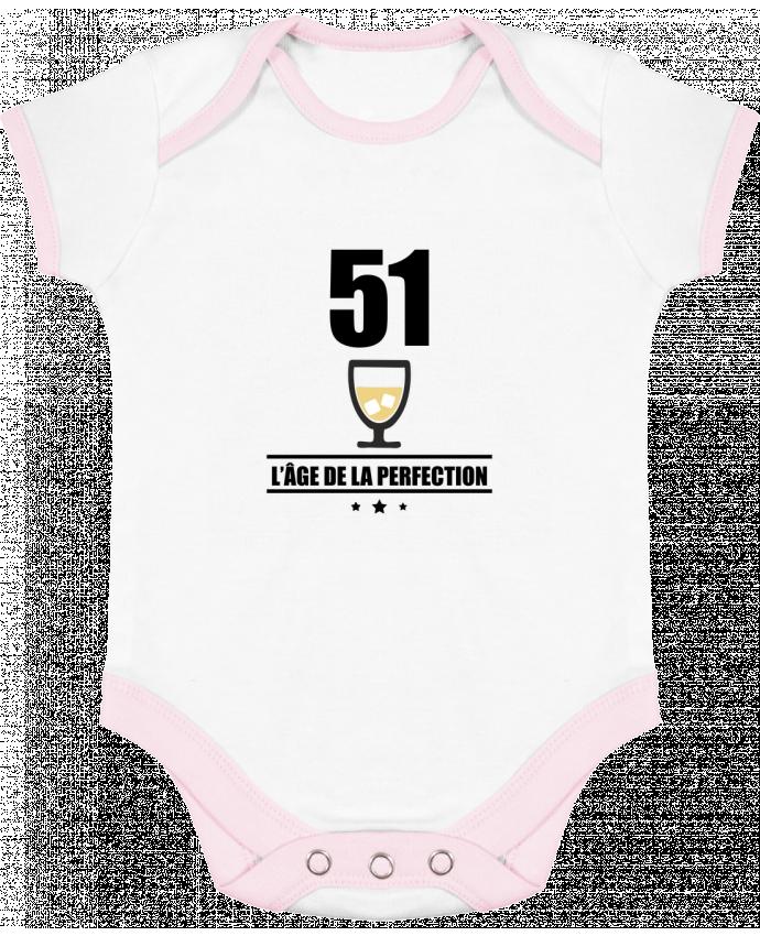 Body Bebé Contraste 51 ans, âge de la perfection, pastis, anniversaire por Benichan