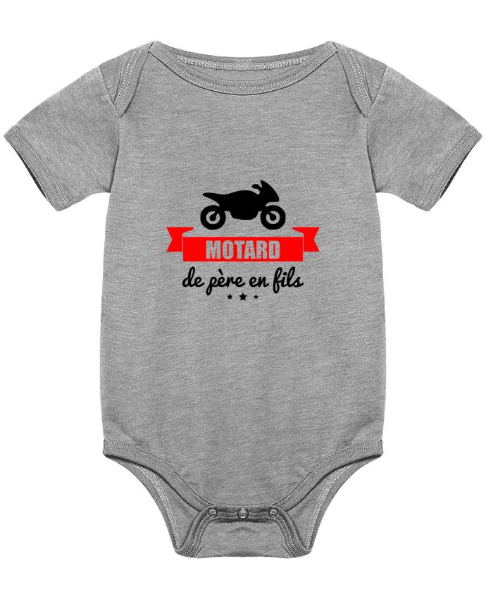 Body Bebé Motard de père en fils, moto, motard por Benichan
