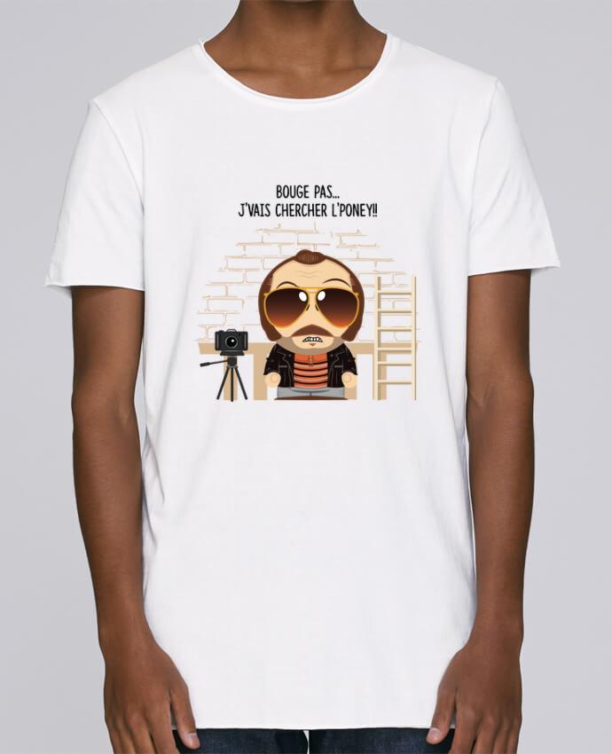 Camiseta Hombre Tallas Grandes Stanly Skates Claudy Focan et le Poney por PTIT MYTHO