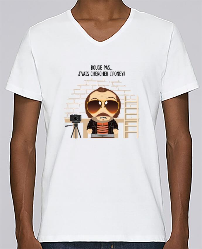 Camiseta Hombre Cuello en V Stanley Relaxes Claudy Focan et le Poney por PTIT MYTHO