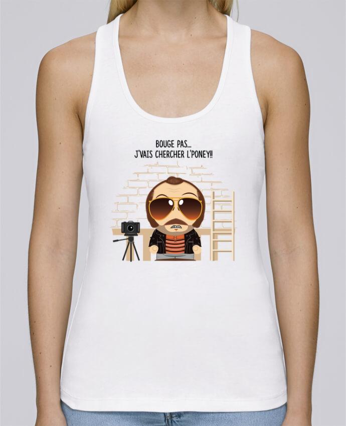 Camiseta de tirantes algodón orgánico mujer Stella Dreams Claudy Focan et le Poney por PTIT MYTHO en coton Bio