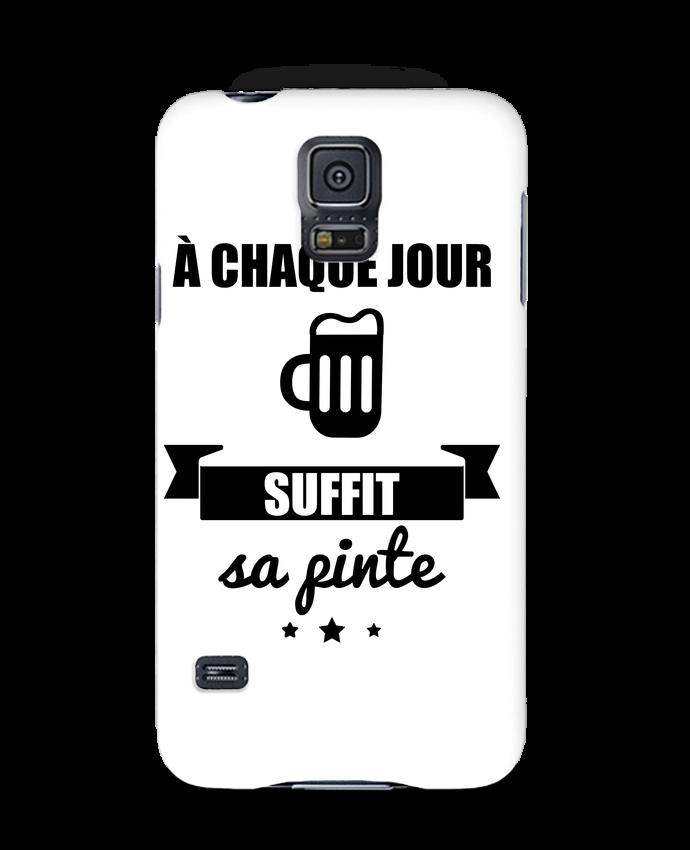 Carcasa Samsung Galaxy S5 À chaque jour suffit sa pinte, bière, apéro, alcool por Benichan
