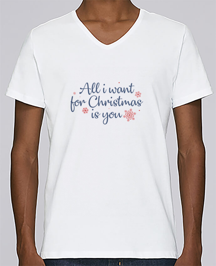 Camiseta Hombre Cuello en V Stanley Relaxes All i want for christmas is you por Nana