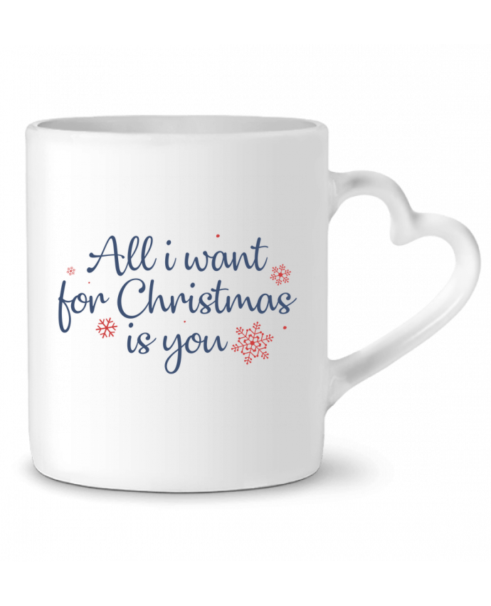 Taza Corazón All i want for christmas is you por Nana