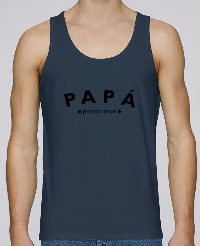 Camiseta de tirantes algodón orgánico hombre Stanley Runs Papá primer amor por tunetoo 100% coton bio