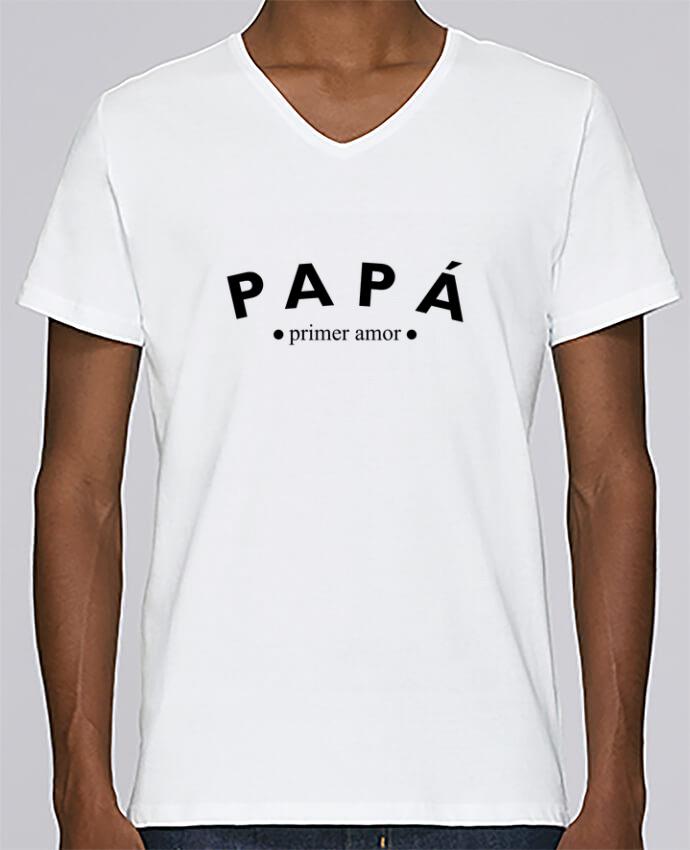 Camiseta Hombre Cuello en V Stanley Relaxes Papá primer amor por tunetoo