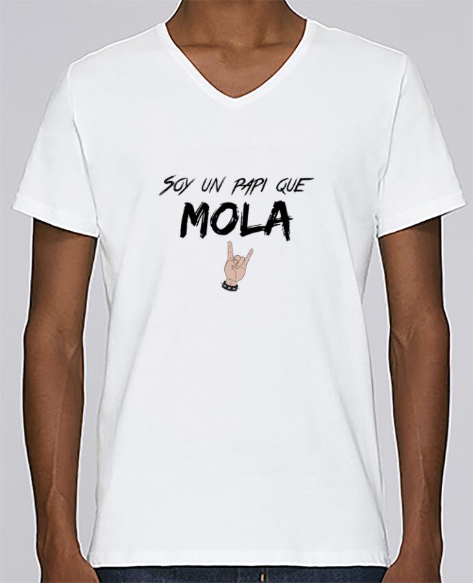 Camiseta Hombre Cuello en V Stanley Relaxes Soy un papi que mola por tunetoo