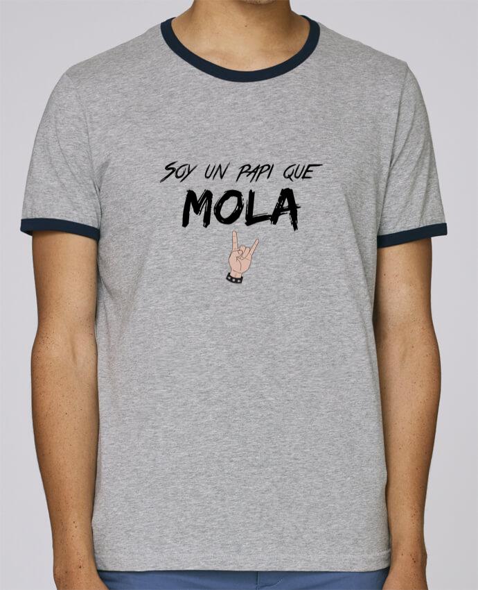 Camiseta Bordes Contrastados Hombre Stanley Holds Soy un papi que mola pour femme por tunetoo