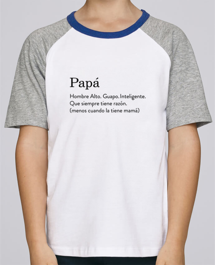 Camiseta de manga ranglan corta en contraste Stanley Mini Jump Short Sleeve Papá definición por tunetoo