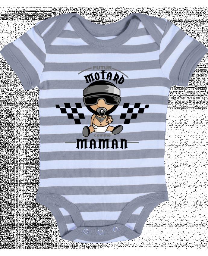 Body Bebé a Rayas Futur Motard comme maman - GraphiCK-Kids