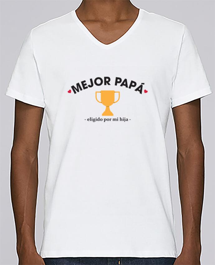 Camiseta Hombre Cuello en V Stanley Relaxes Mejor papá - eligido po mi hija - por tunetoo
