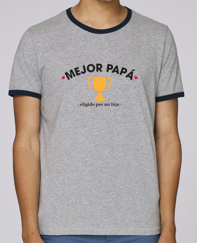 Camiseta Bordes Contrastados Hombre Stanley Holds Mejor papá - eligido po mi hija - pour femme por tunetoo