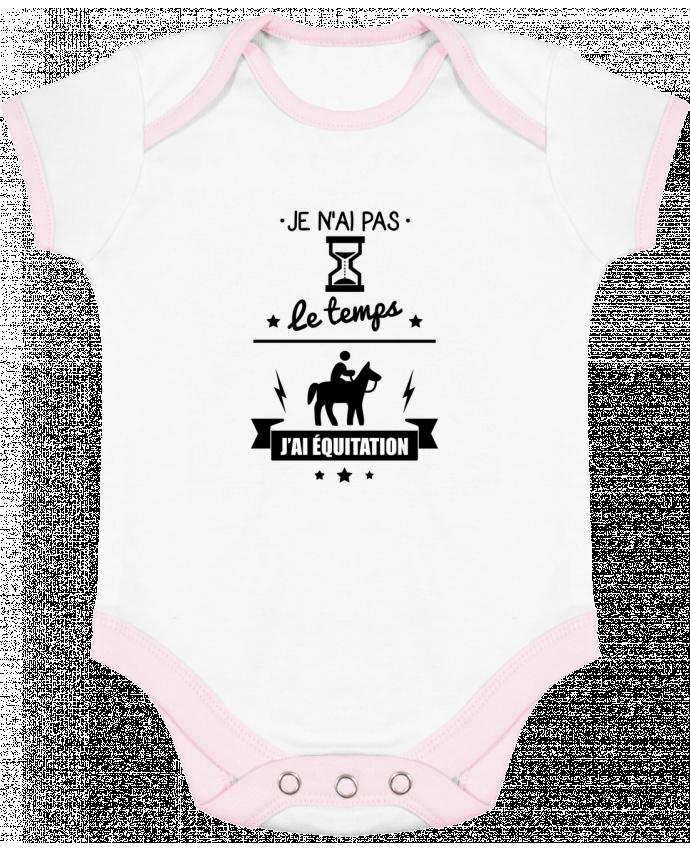 Body Bebé Contraste Je n'ai pas le temps j'ai équitation por Benichan