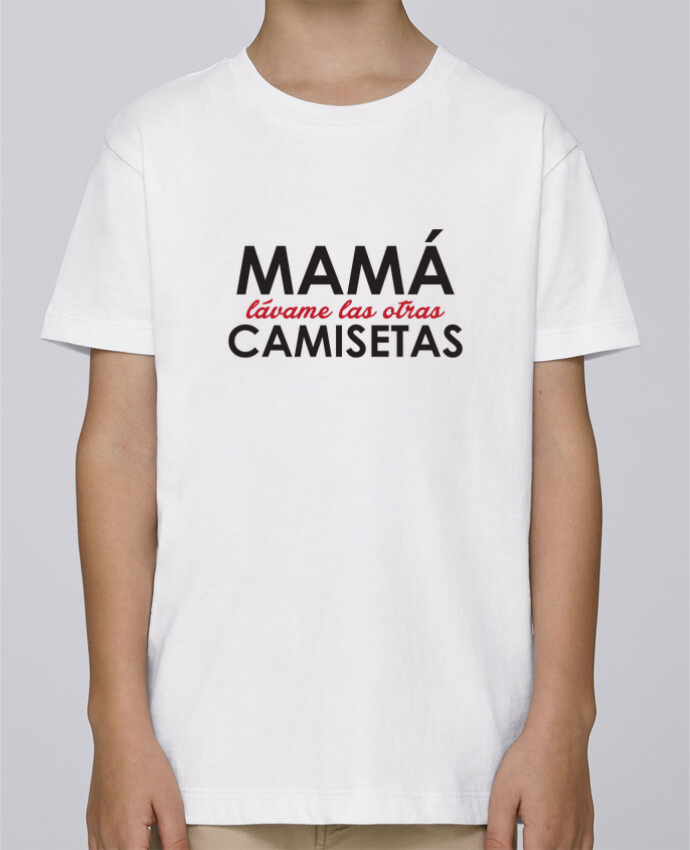 Camiseta de cuello redondo Stanley Mini Paint Mamá lávame las otras camisetas por tunetoo