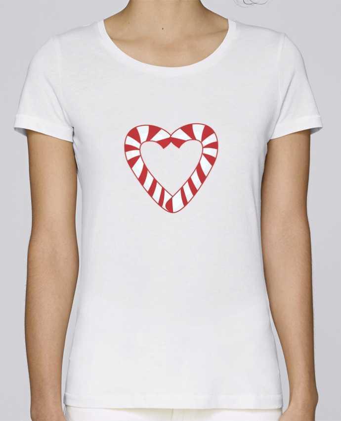 Camiseta Mujer Stellla Loves Christmas Candy Cane Heart por tunetoo