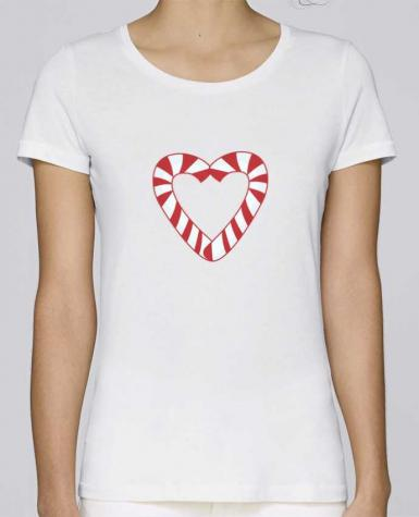 Camiseta Mujer Stellla Loves Christmas Candy Cane Heart por tunetoo