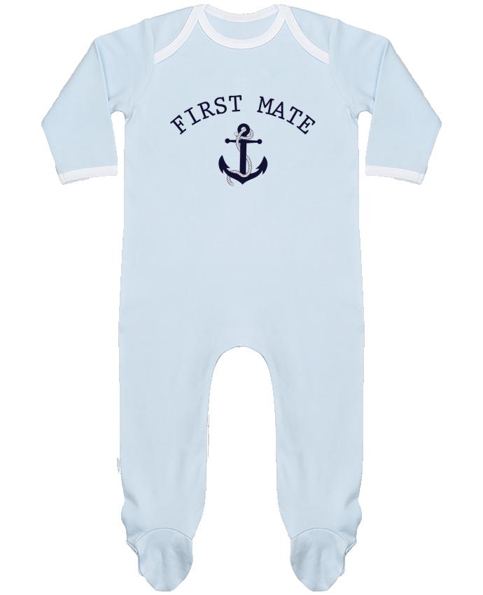Pijama Bebé Manga Larga Contraste Capitain and first mate por tunetoo