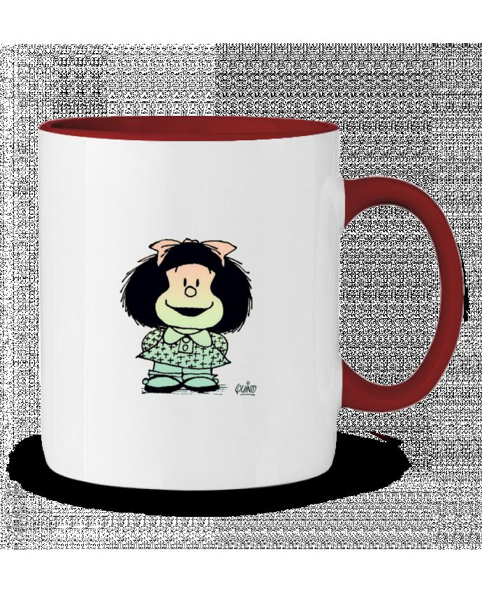 Taza Cerámica Bicolor Mafalda. puravida