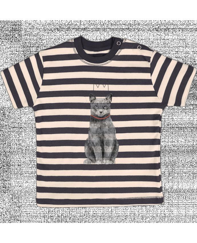 Camiseta Bebé a Rayas King Of Everything por Balàzs Solti
