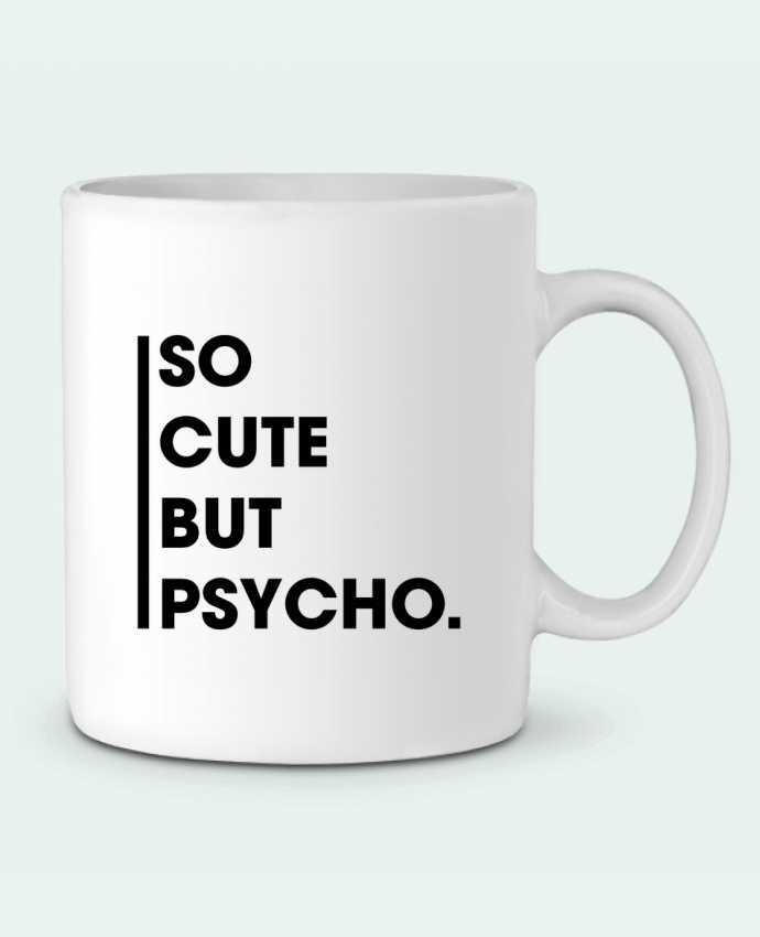 Taza Cerámica So cute but psycho. por tunetoo