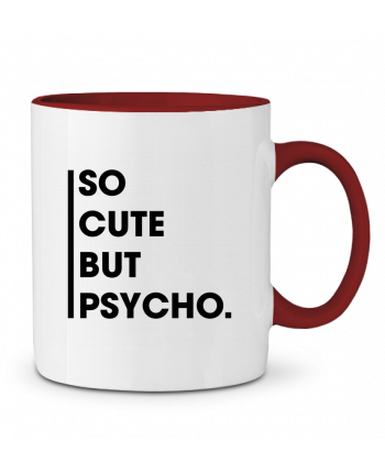 Taza Cerámica Bicolor So cute but psycho. tunetoo