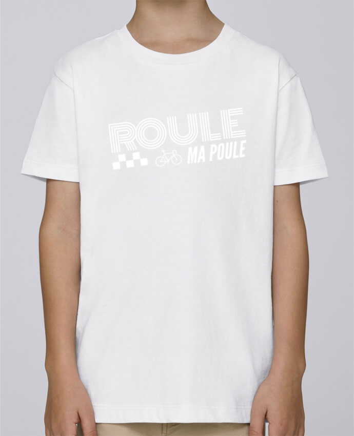 Camiseta de cuello redondo Stanley Mini Paint Roule ma poule / blanc por justsayin
