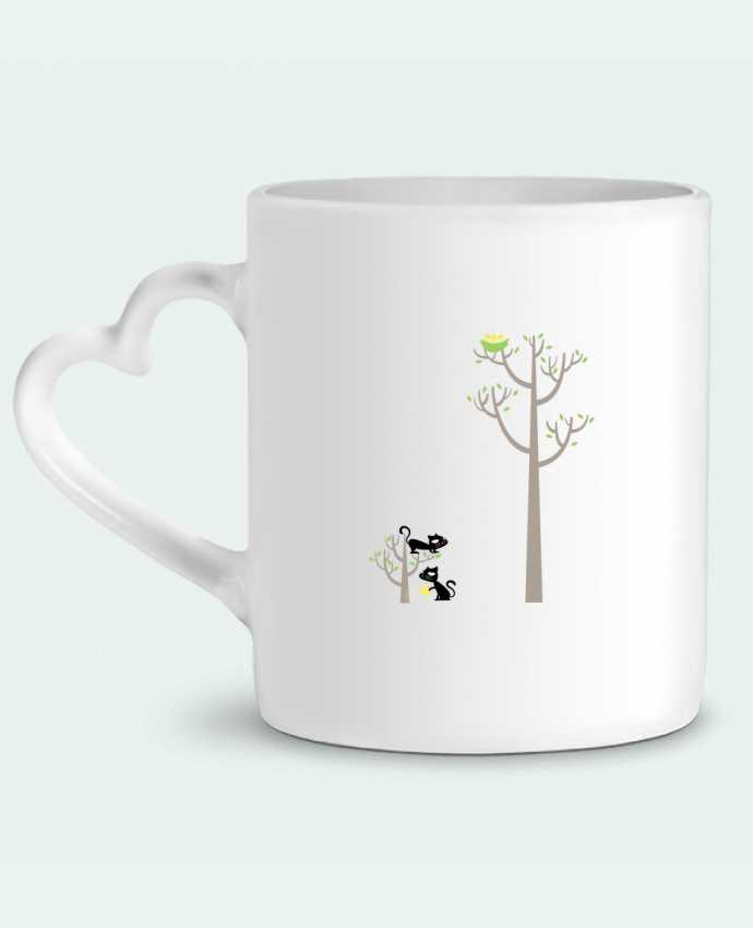 Taza Corazón Growing a plant for Lunch por flyingmouse365