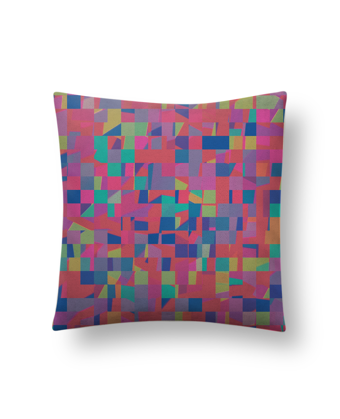 Cojín Piel de Melocotón 45 x 45 cm Pink Check por L'Homme Sandwich
