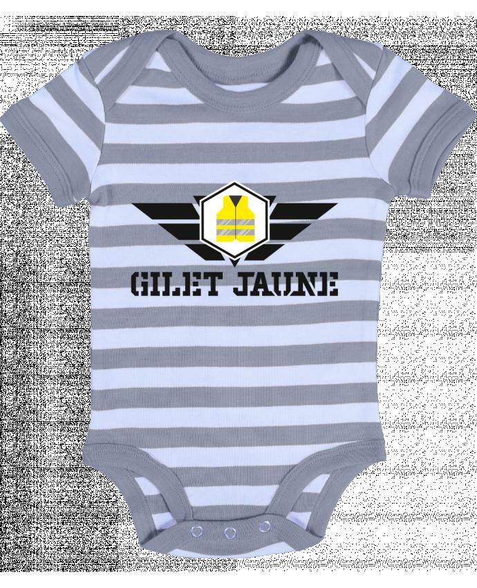 fbf2e210b Body Bebé a Rayas Gilet Jaune par Anonymous