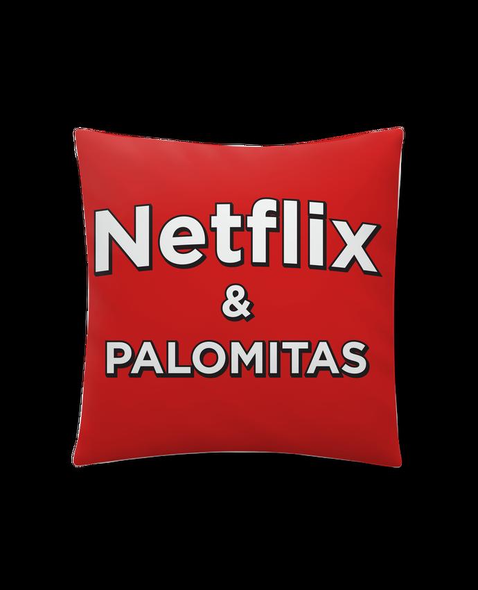 Cojín Sintético Suave 45 x 45 cm Netflix and palomitas por tunetoo