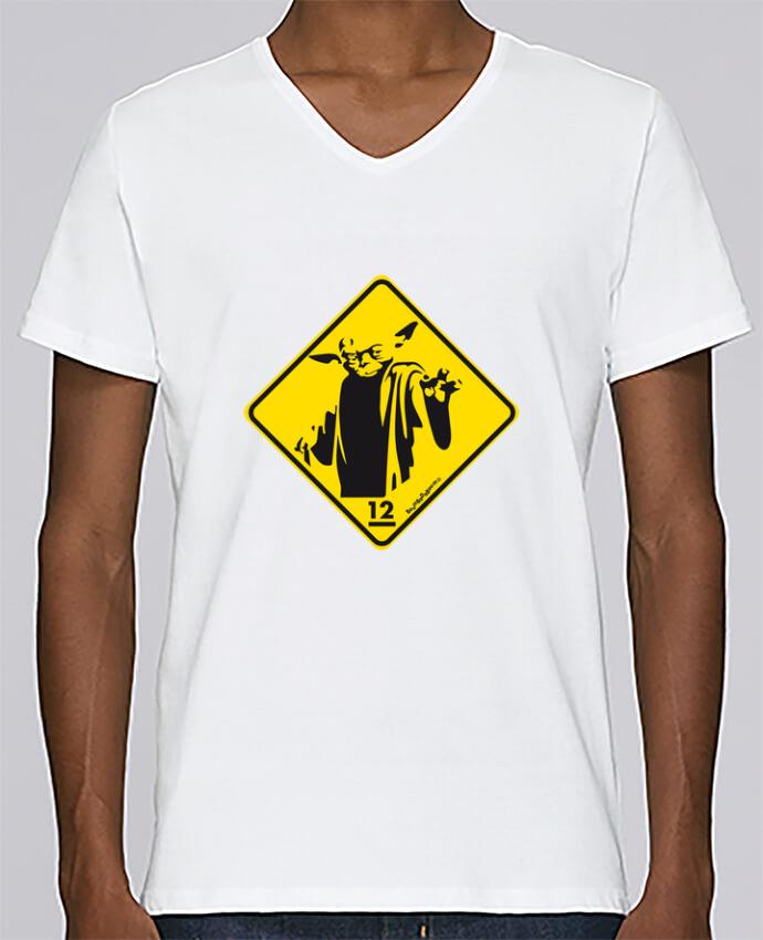 Camiseta Hombre Cuello en V Stanley Relaxes Yoda por Zorglub