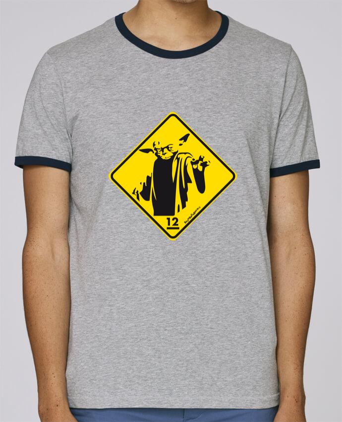 Camiseta Bordes Contrastados Hombre Stanley Holds Yoda pour femme por Zorglub