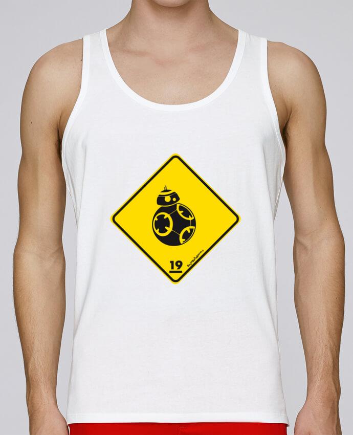 Camiseta de tirantes algodón orgánico hombre Stanley Runs BB-8 por Zorglub 100% coton bio
