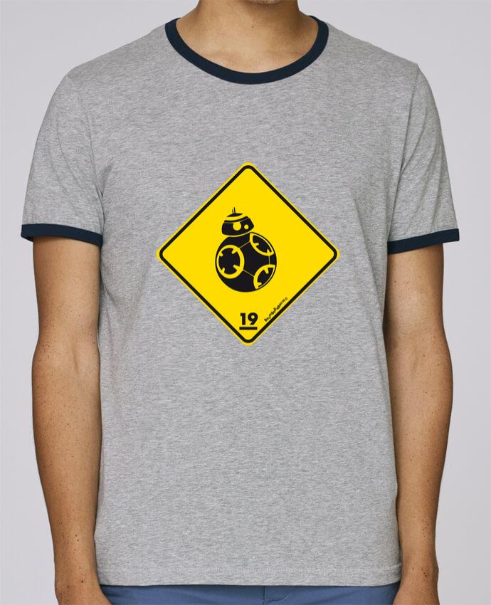 Camiseta Bordes Contrastados Hombre Stanley Holds BB-8 pour femme por Zorglub
